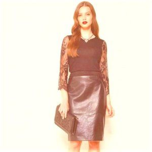 ALANNAH HILL Unstoppable Woman Leather Skirt R$269